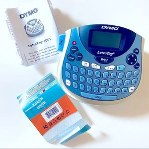 Dymo LetraTag 100T Label Maker Blue New Open Box